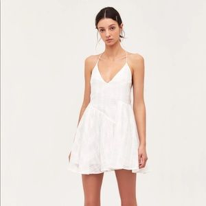 C/MEO Collective Same Things Mini Dress in Ivory